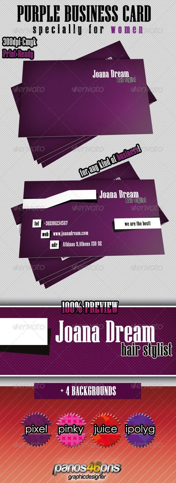 Purple Business Card - Creative Business Cards