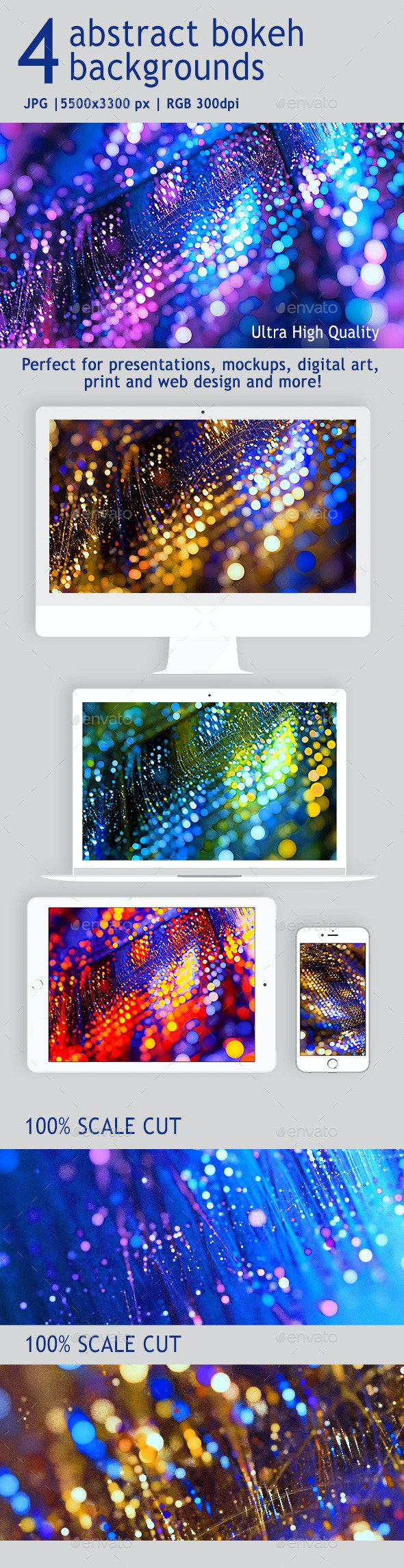 4 Abstract bokeh backgrounds - Abstract Backgrounds