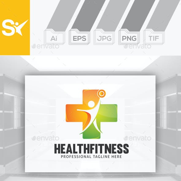 Health Fitness Logo