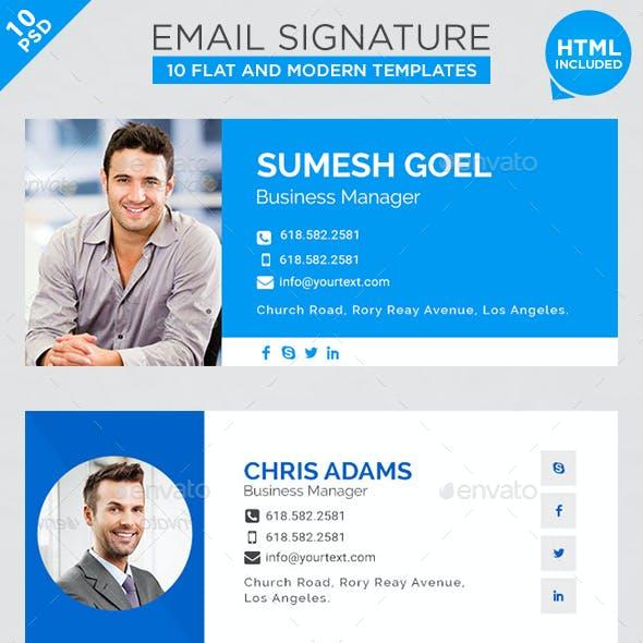 Email-Signatures - 10 Templates