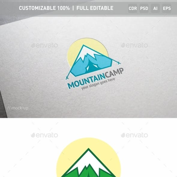 Mountain Camp Logo Template