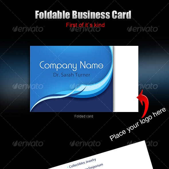 foldable business card - ready to print