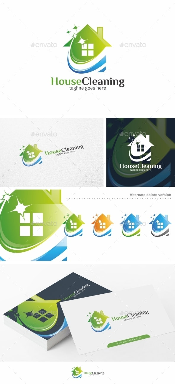 House Cleaning - Logo Template - Buildings Logo Templates