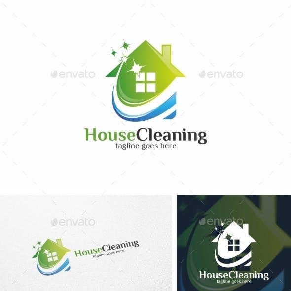 House Cleaning - Logo Template