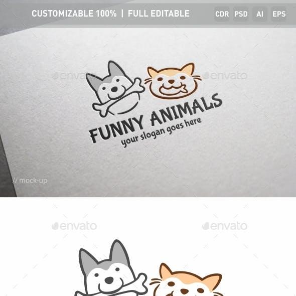 Funny Animals Logo Template