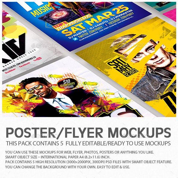 Flyer Poster Mockups V6