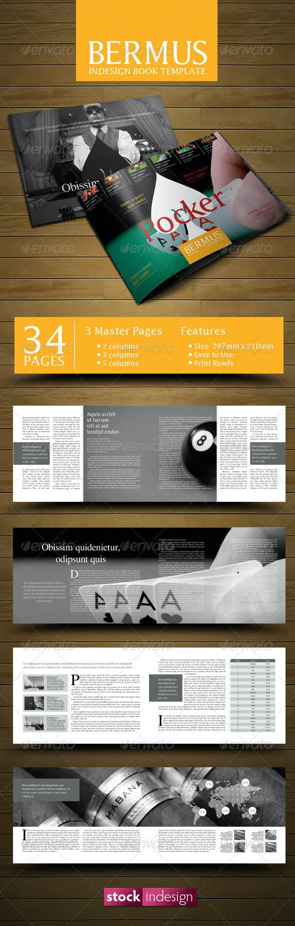 InDesign Book Template: Bermus - Miscellaneous Print Templates