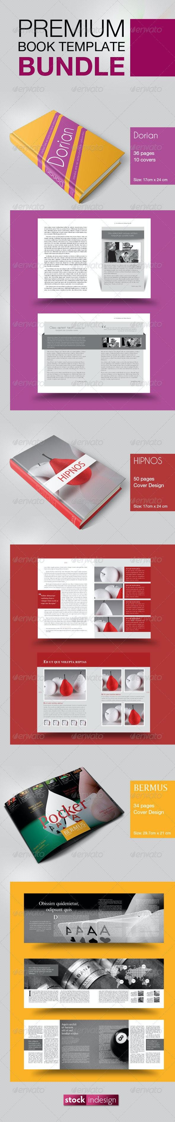 Book Template Bundle - Miscellaneous Print Templates