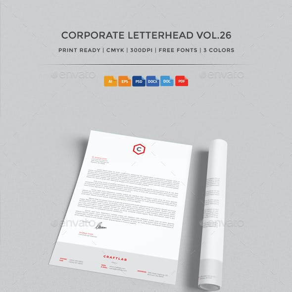 Corporate Letterhead vol.26 with MS Word DOC/DOCX