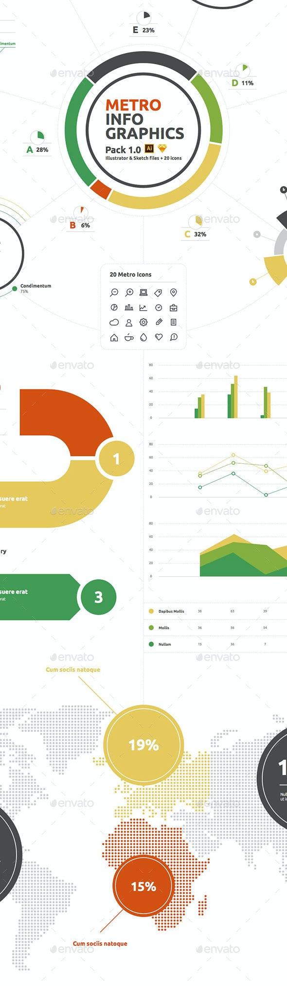 Metro Infographics Pack 1.0 - Infographics