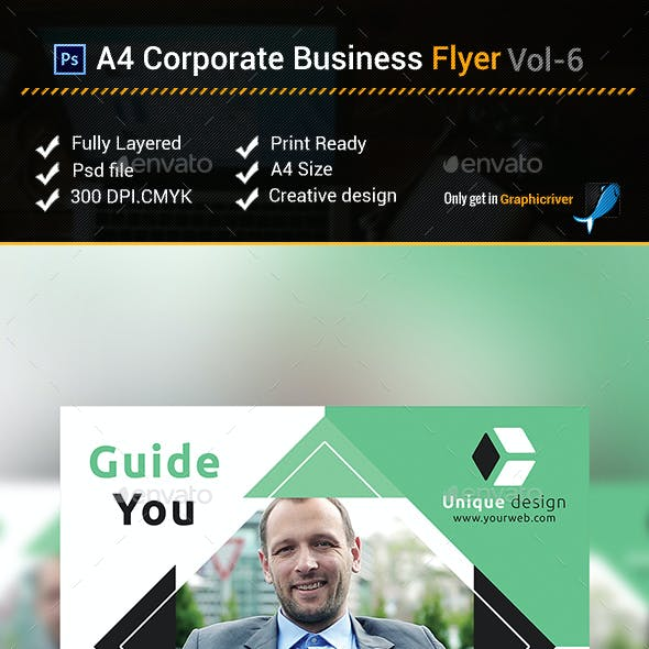 A4 Corporate Business Flyer vol- 6