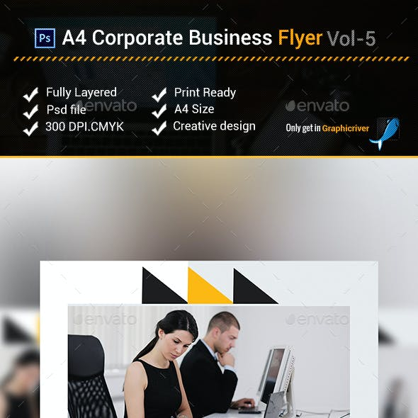 A4 Corporate Business Flyer vol- 5