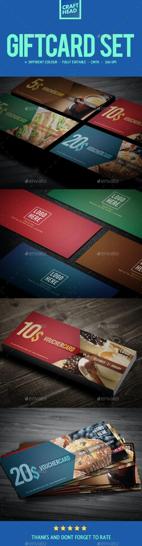 Food Gift Voucher Set - Cards & Invites Print Templates