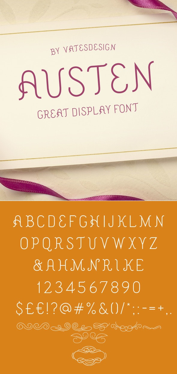 Austen Display - Decorative Fonts