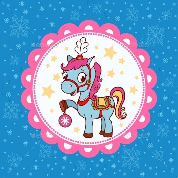 Horse Circus Card Design.