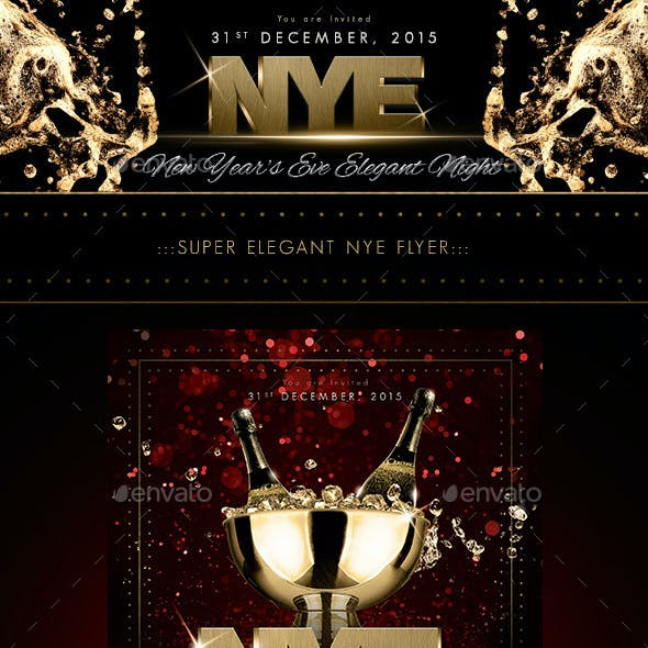 New Year's Eve 2016 Elegant Flyer