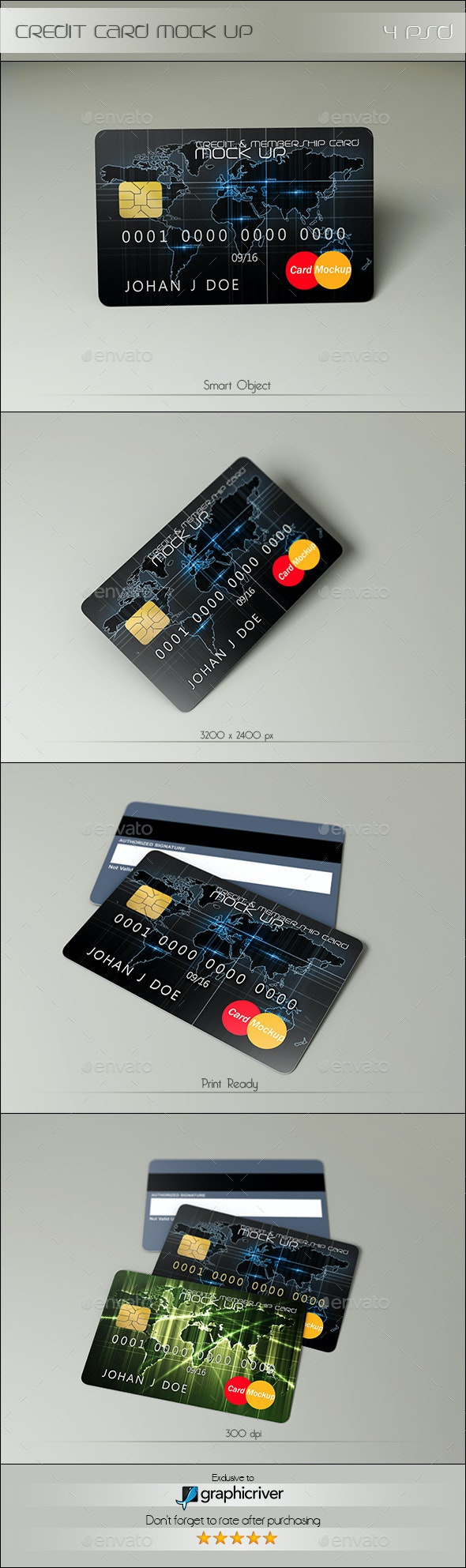 Credit Card Mock Up - Miscellaneous Product Mock-Ups