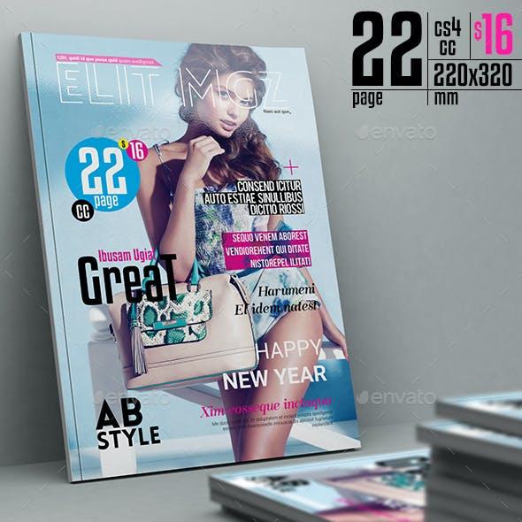 Elit Magazine Template 22 Pages
