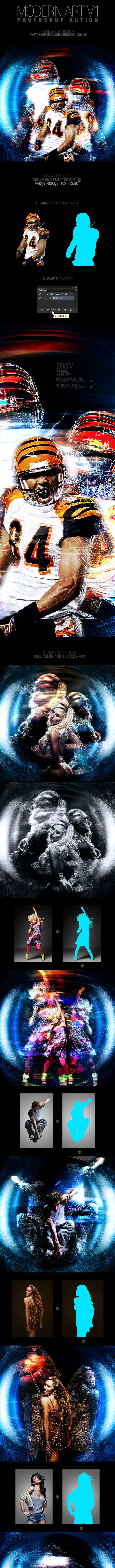 Modern Art V1 Photoshop Action - Photo Effects Actions