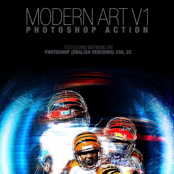 Modern Art V1 Photoshop Action