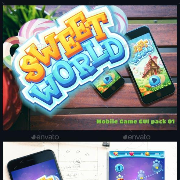 Sweet world mobile GUI pack 01