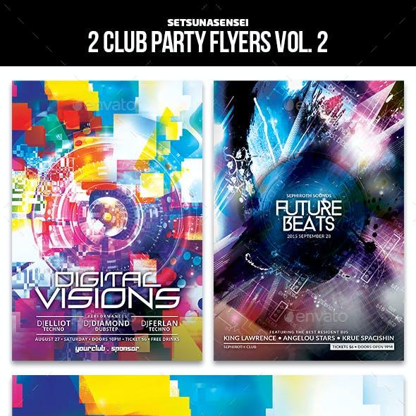 2 Club Party Flyers Vol. 2