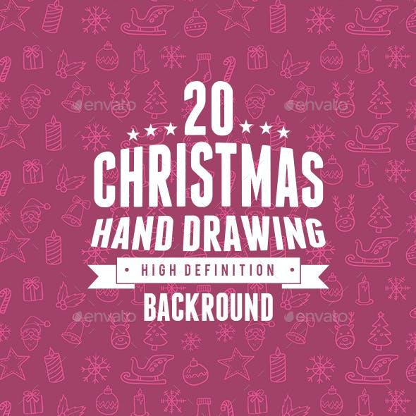 Christmas Backrounds Hand drawing