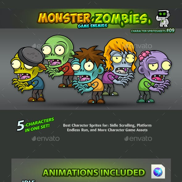 Zombies 2D Game Character Sprites 09