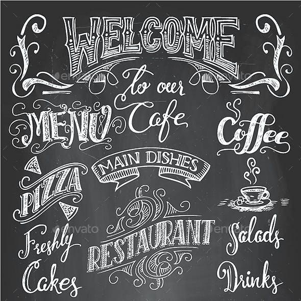 Restaurant and Cafe Chalkboard Printables Set
