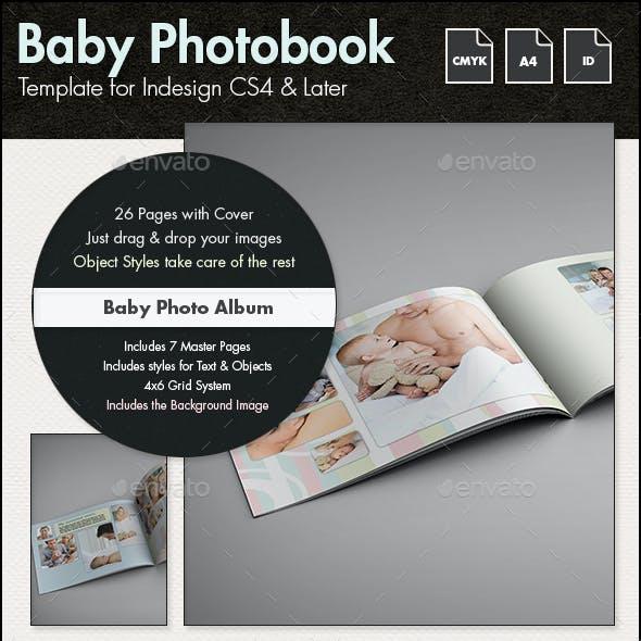 Baby Photobook Album Template g2 - A4 Landscape