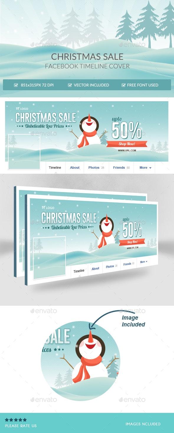 Christmas Sale Facebook Timeline Cover - Facebook Timeline Covers Social Media