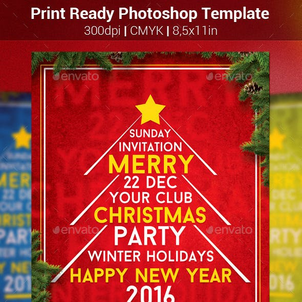 Typography Christmas Flyer