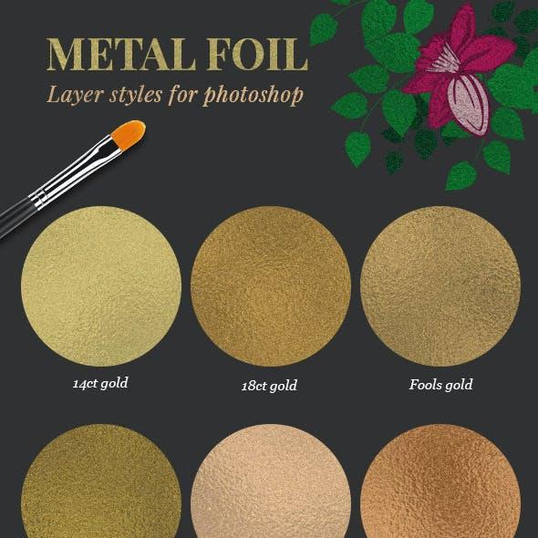 Metal Foil Layer Styles