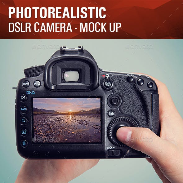 Photorealistic DSLR Camera Mock Up