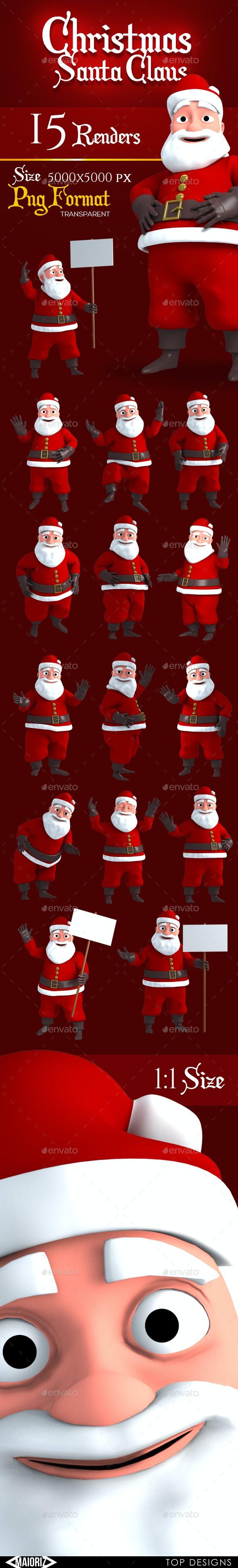 Christmas Character Renders - Characters 3D Renders