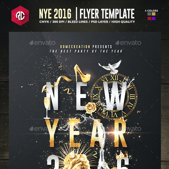 New Year 2016 | Psd Poster Template