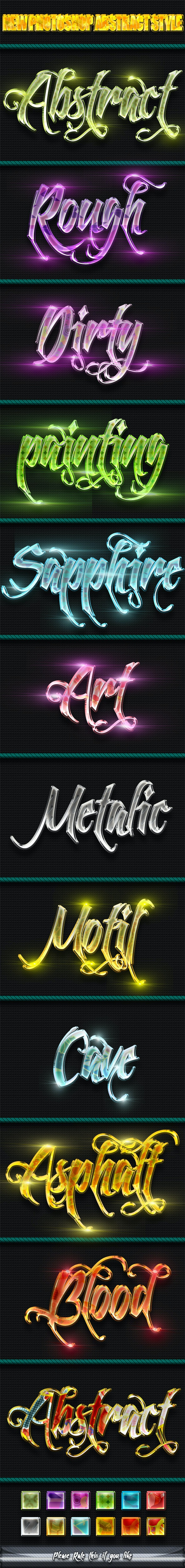 New Photoshop Abstract Styles - Text Effects Styles