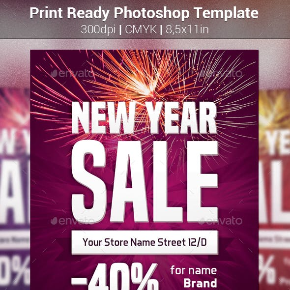 New Year Sale Simple Template