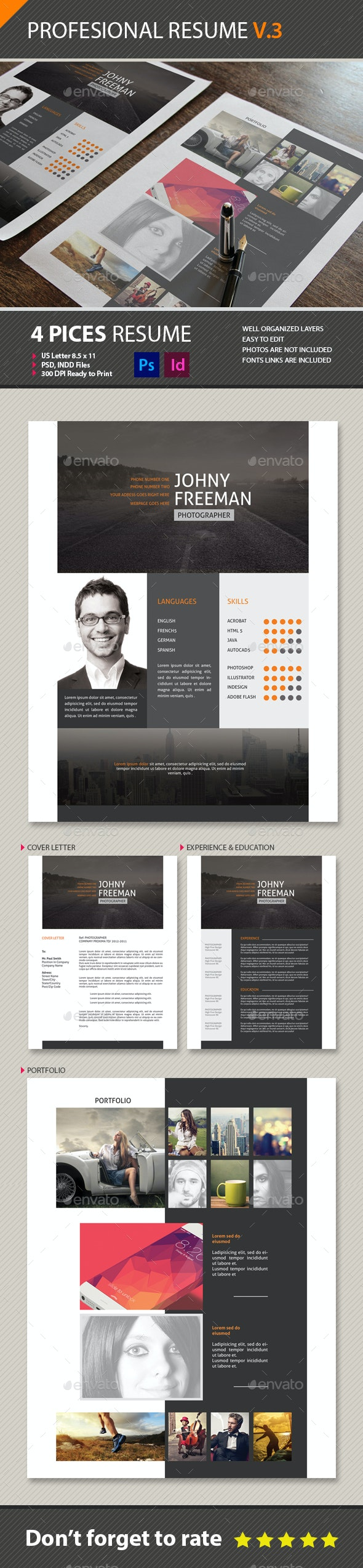 Resume Cv V3 - Resumes Stationery
