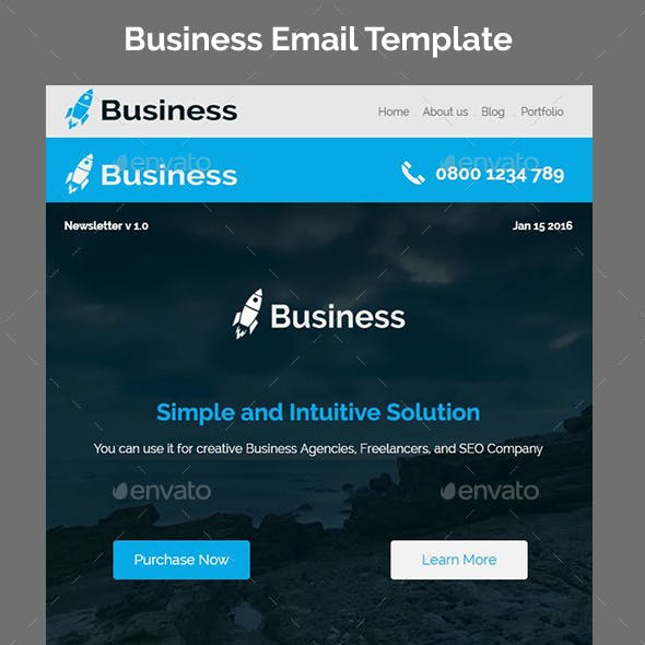 Business - Responsive Email + StampReady Builder
