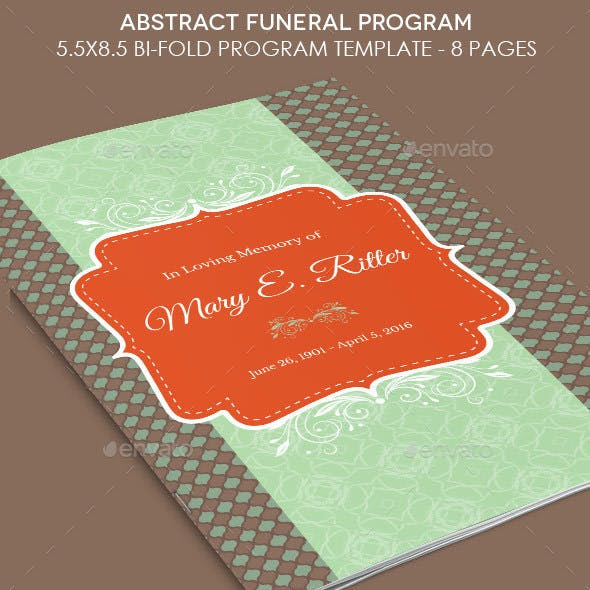 Abstract Funeral Program Template