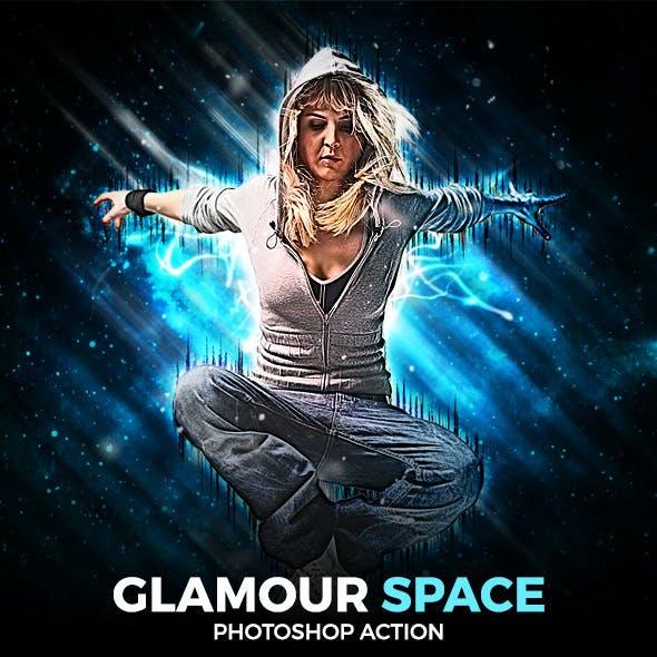 Glamour Space Photoshop Action