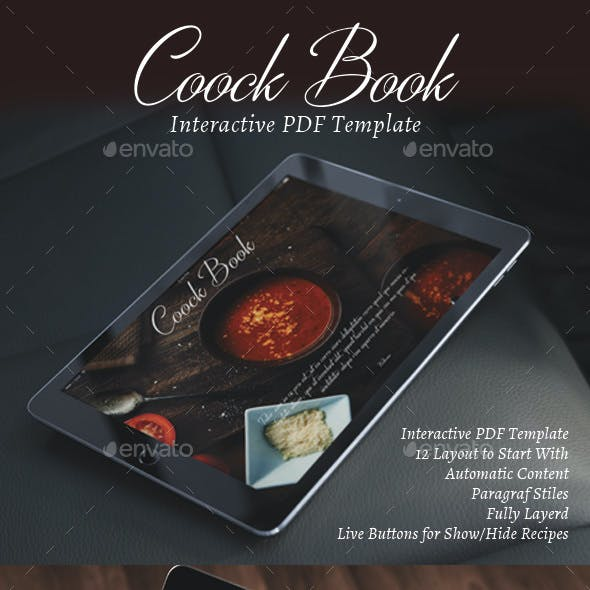 Interactive CookBook or Restaurant Menu
