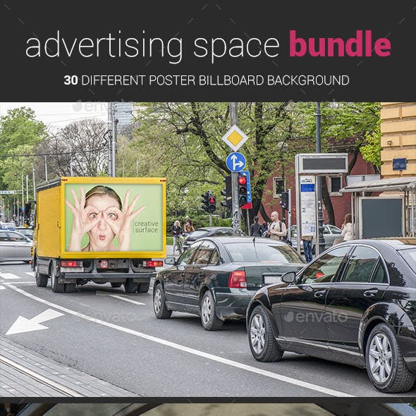 Advertising Space Mockup Bundle 01