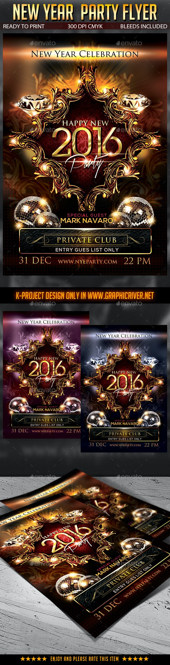 New Year Party Flyer v2 - Clubs & Parties Events