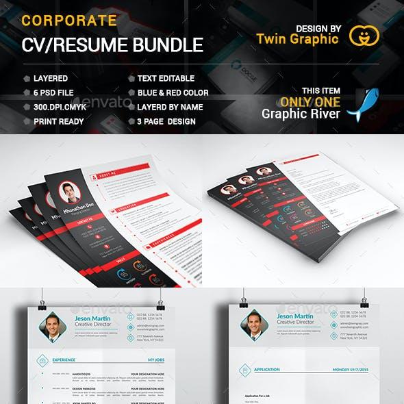 Corporate CV/Resume Bundle