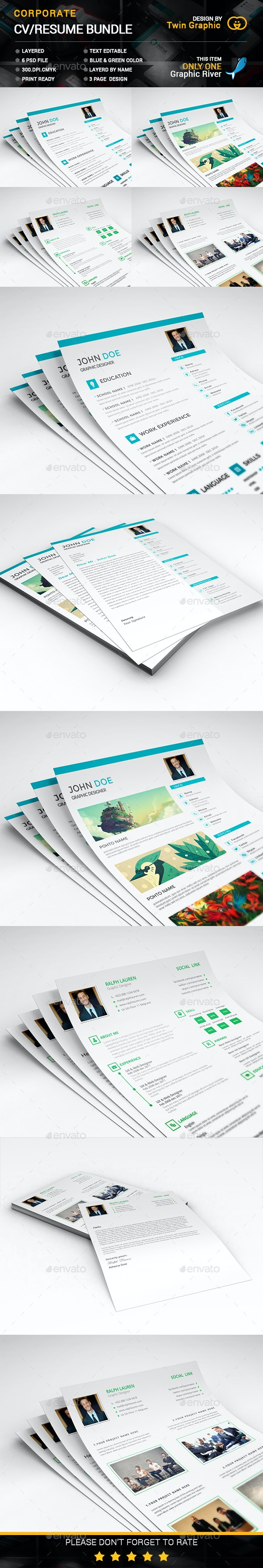 Corporate CV/Resume Bundle - Resumes Stationery