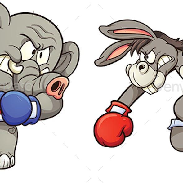 Donkey vs Elephant
