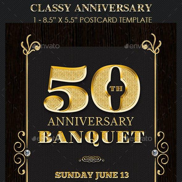 Golden Anniversary Banquet Flyer Template