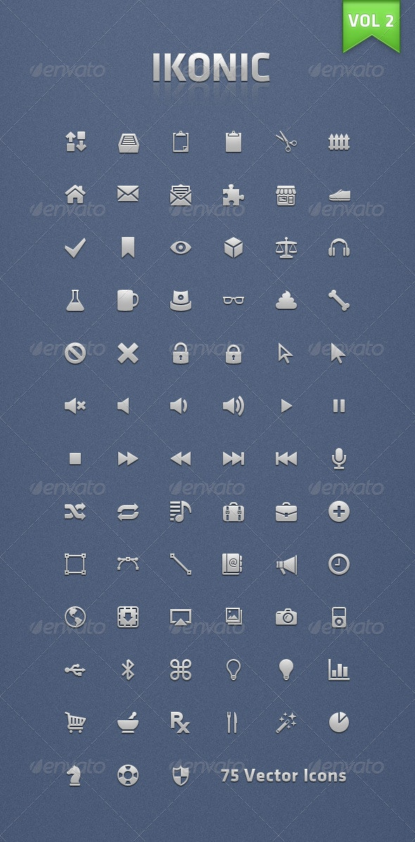 Ikonic 2 - Vector Icons - Web Icons